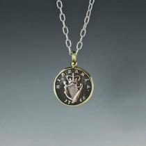 Hibernia 1766 Irish coin necklace