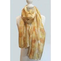 Citrine Shimmer Silk Scarf Wrap