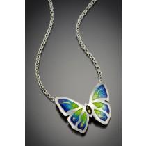 Champlevé Butterfly pendant necklace