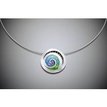 Champlevé Swirl Pendant necklace