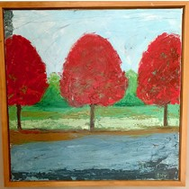Red Trees by Sandra Vallely