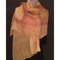 Muted Sunset Silk Chiffon Scarf/Wrap